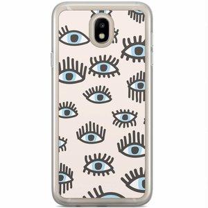 Samsung Galaxy J5 2017 siliconen hoesje - Eyes on you