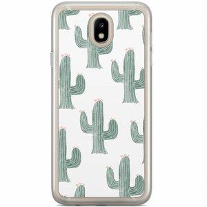 Samsung Galaxy J7 2017 siliconen hoesje - Cactus print