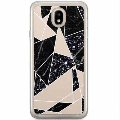 Casimoda Samsung Galaxy J7 2017 siliconen hoesje - Abstract painted