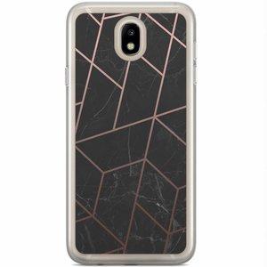 Samsung Galaxy J7 2017 siliconen hoesje - Marble grid