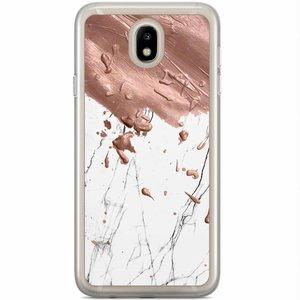 Samsung Galaxy J7 2017 siliconen hoesje - Marble splash