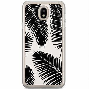 Samsung Galaxy J7 2017 siliconen hoesje - Palm leaves silhouette