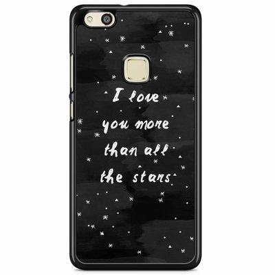 Casimoda Huawei P10 Lite hoesje - Stars love quote