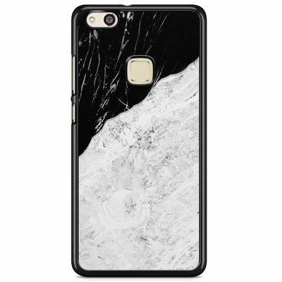 Casimoda Huawei P10 Lite hoesje - Marmer zwart grijs