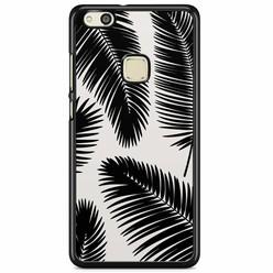 Huawei P10 Lite hoesje - Palm leaves silhouette