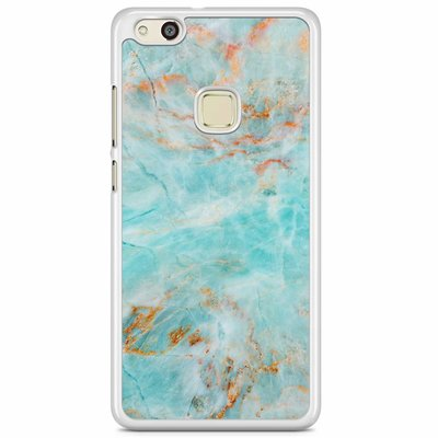 Casimoda Huawei P10 Lite hoesje - Turquoise marmer
