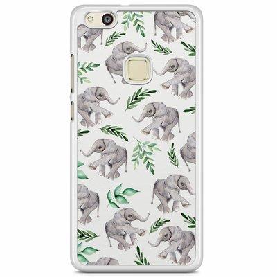 Casimoda Huawei P10 Lite hoesje - Floral olifantjes