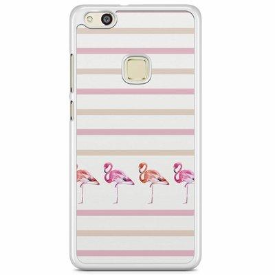 Casimoda Huawei P10 Lite hoesje - Flamingo stripes