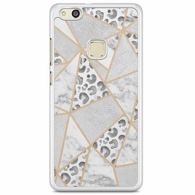 Casimoda Huawei P10 Lite hoesje - Stone & leopard print