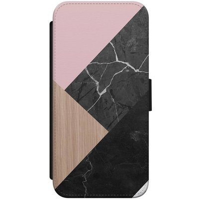 Casimoda iPhone 7/8 flipcase - Marble wooden mix