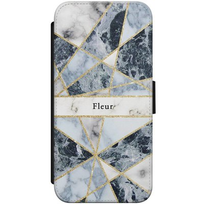 Casimoda iPhone 7/8 flipcase - Marmer blauw