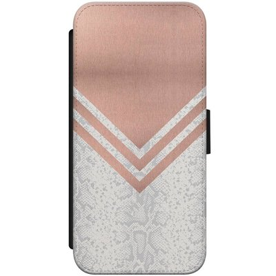 Casimoda iPhone 7/8 flipcase - Rose gold snake
