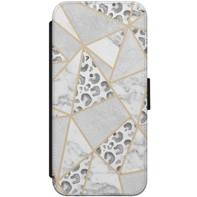 Casimoda iPhone 7/8 flipcase - Stone & leopard