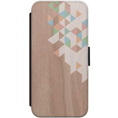 Casimoda iPhone 7/8 flipcase - Wood blocks