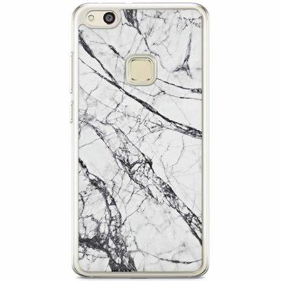Casimoda Huawei P10 Lite siliconen hoesje - Grijs marmer