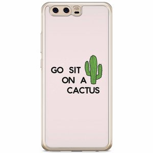 Huawei P10 siliconen hoesje - Go sit on a cactus