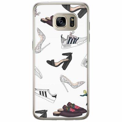 Casimoda Samsung Galaxy S7 Edge siliconen hoesje - Shoe stash