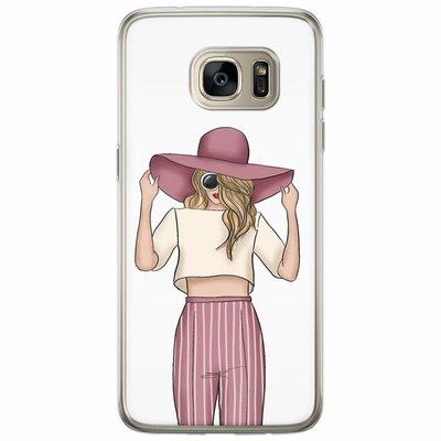 Casimoda Samsung Galaxy S7 Edge siliconen hoesje - Summer girl
