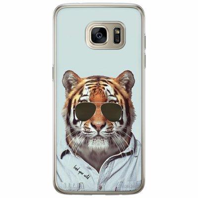 Casimoda Samsung Galaxy S7 Edge siliconen hoesje - Tijger wild
