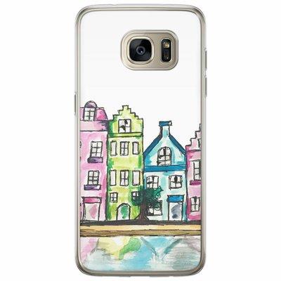 Casimoda Samsung Galaxy S7 Edge siliconen hoesje - Amsterdam