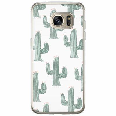 Casimoda Samsung Galaxy S7 Edge siliconen hoesje - Cactus print