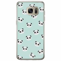 Samsung Galaxy S7 Edge siliconen hoesje - Panda print