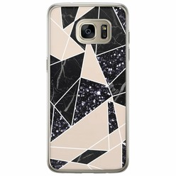 Samsung Galaxy S7 Edge siliconen hoesje - Abstract painted