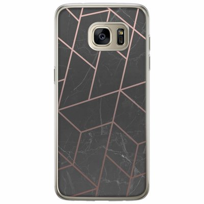 Casimoda Samsung Galaxy S7 Edge siliconen hoesje - Marble grid