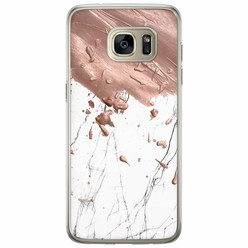 Samsung Galaxy S7 Edge siliconen hoesje - Marble splash