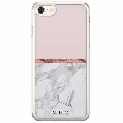 Casimoda Siliconen hoesje met naam - Rose all day