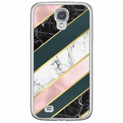 Samsung Galaxy S4 siliconen hoesje - Marble stripes