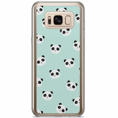 Casimoda Samsung Galaxy S8 Plus siliconen hoesje - Panda print
