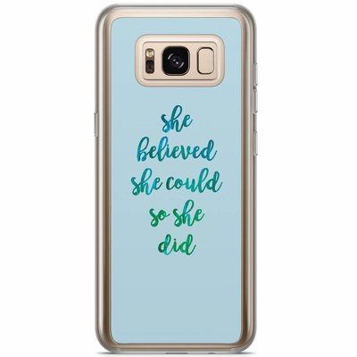 Casimoda Samsung Galaxy S8 Plus siliconen hoesje - She believed