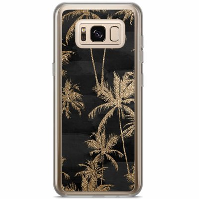 Casimoda Samsung Galaxy S8 Plus siliconen hoesje - Palmbomen