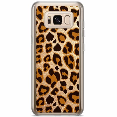 Casimoda Samsung Galaxy S8 Plus siliconen hoesje - Luipaard print