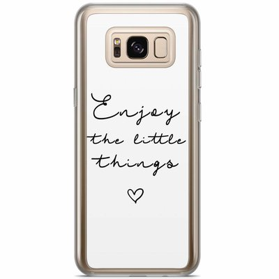 Casimoda Samsung Galaxy S8 Plus siliconen hoesje - Enjoy life