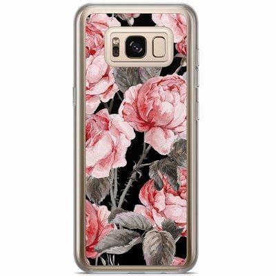 Casimoda Samsung Galaxy S8 Plus siliconen hoesje - Moody florals