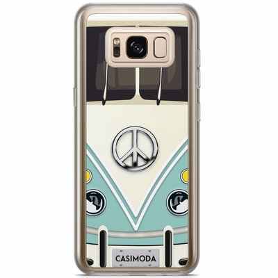 Casimoda Samsung Galaxy S8 Plus siliconen hoesje - Hippie bus