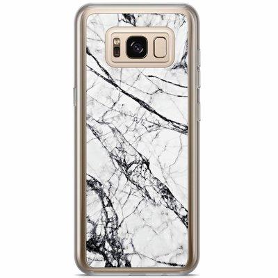 Casimoda Samsung Galaxy S8 Plus siliconen hoesje - Grijs marmer