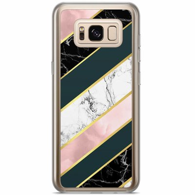 Casimoda Samsung Galaxy S8 Plus siliconen hoesje - Marble stripes