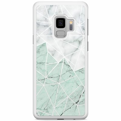 Casimoda Samsung Galaxy S9 hoesje - Marmer mint mix