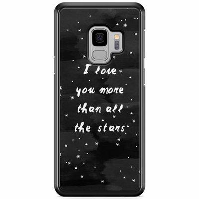 Casimoda Samsung Galaxy S9 hoesje - Stars love quote