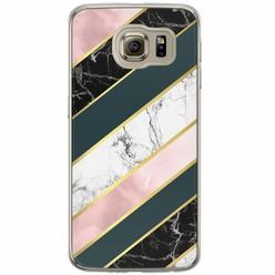 Samsung Galaxy S6 siliconen hoesje - Marble stripes