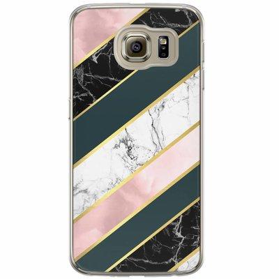Casimoda Samsung Galaxy S6 siliconen hoesje - Marble stripes