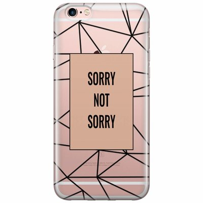 Casimoda iPhone 6/6s transparant hoesje - Sorry not sorry