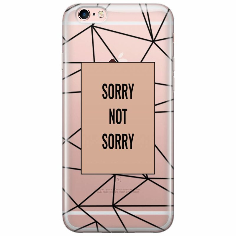 iPhone 6/6s transparant hoesje - Sorry not sorry