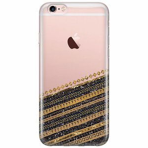 iPhone 6/6s siliconen hoesje - Modern wood