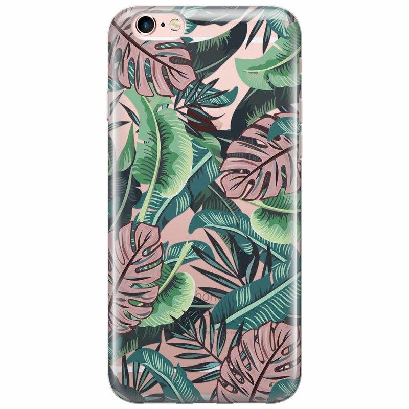 Casimoda iPhone 6/6s transparant hoesje - Jungle