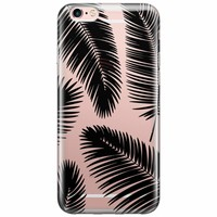 Casimoda iPhone 6/6s transparant hoesje - Palm leaves silhouette