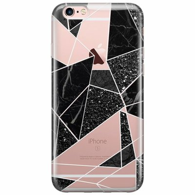 Casimoda iPhone 6/6s transparant hoesje - Abstract painted